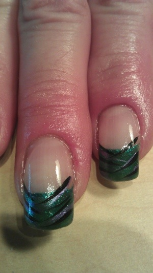 french style nail design by Michele