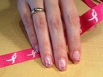 Breast Cancer Support Nail Design by Michele Carool of Michele
