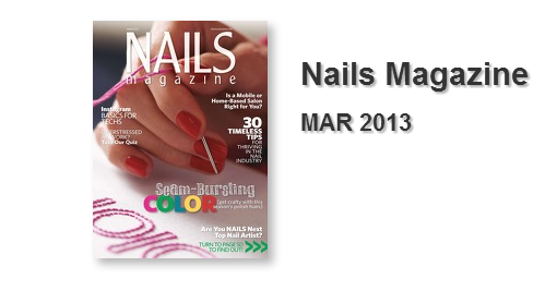 Nails Magazine MAR 2013 with Michele Carroll of Fort Collins, Colorado